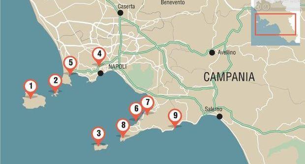 Mappa frane spiagge
