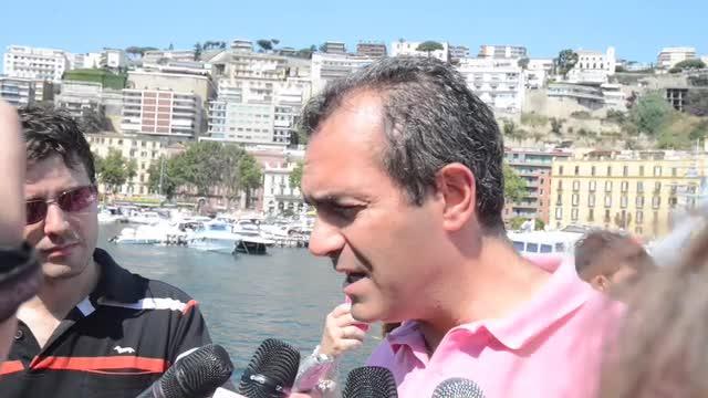 Luigi de Magistris Bateau mouche Napoli
