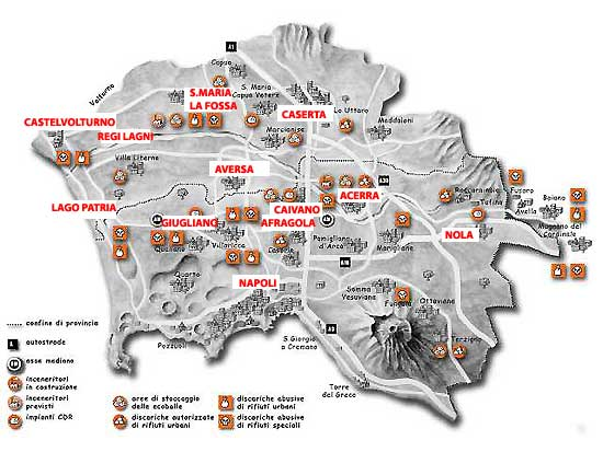 Mappa rifiuti tossici