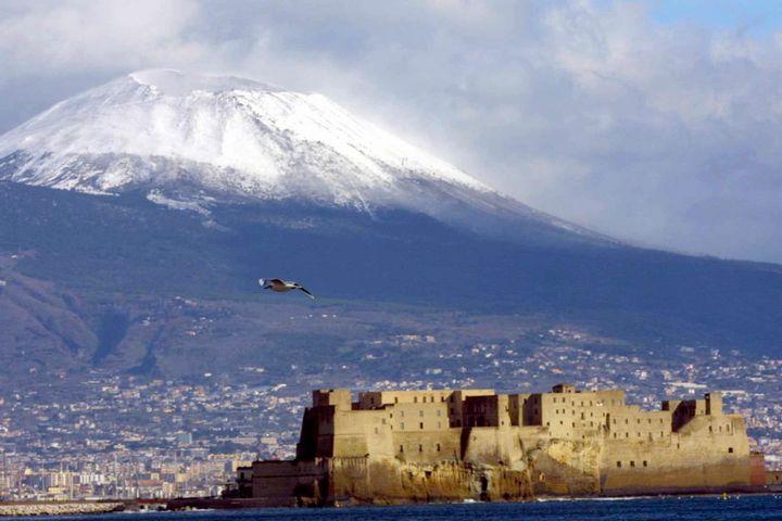 Napoli Vesuvio neve