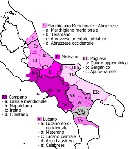 lingua e dialetti Napoletani