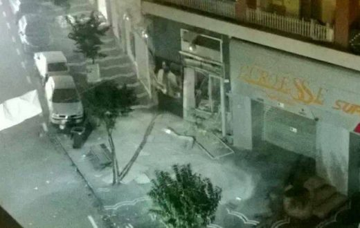 bomba piazzale Brunelleschi Portici