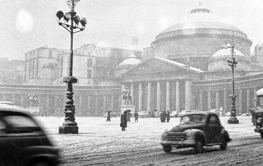 nevicata Napoli 1956