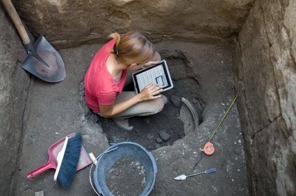 Scoperti resti di una giraffa in un sito archeologico pompeiano