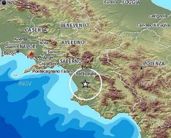 Terremoto nel Cilento