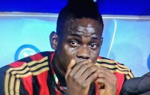 Mario Balotelli in lacrime