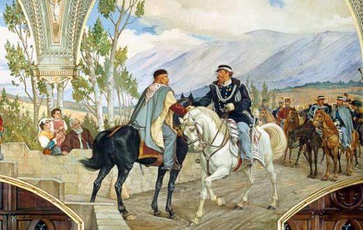 Giuseppe Garibaldi e Vittorio Emanuele II