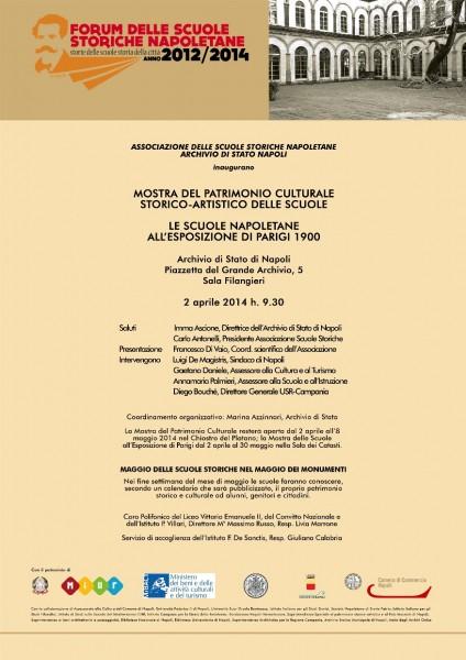 Locandina mostra all'Archivio di Stato
