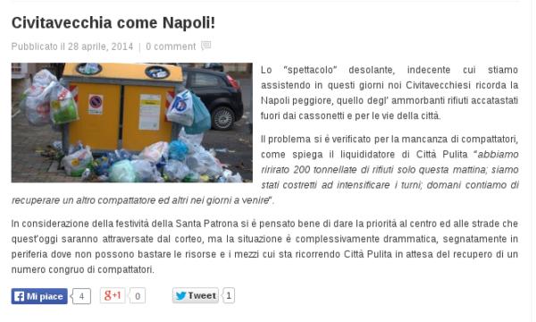 SputtaNapoli: Civitavecchia come Napoli