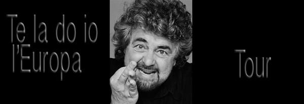 """Beppe Grillo torna sul palco con """" Te la do io l'Europa"""""""