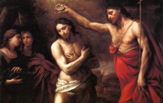 Andrea Vaccaro - Gesù e San Giovanni il Battista: il Battesimo