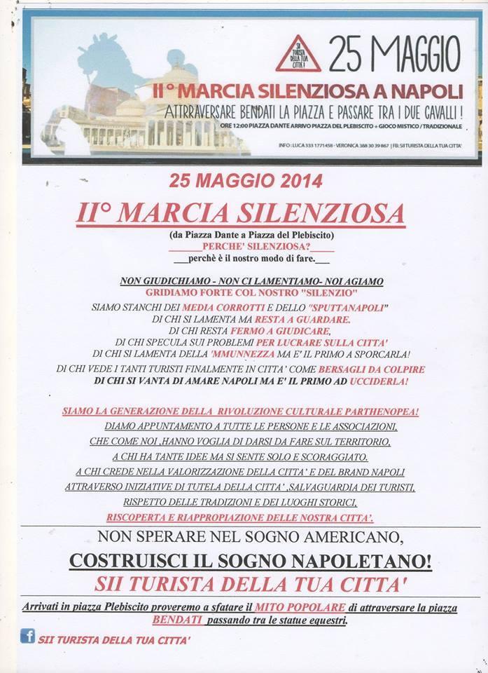 Ii marcia silenziosa a napoli il 25 maggio alle ore 12 for Costruisci la tua cucina