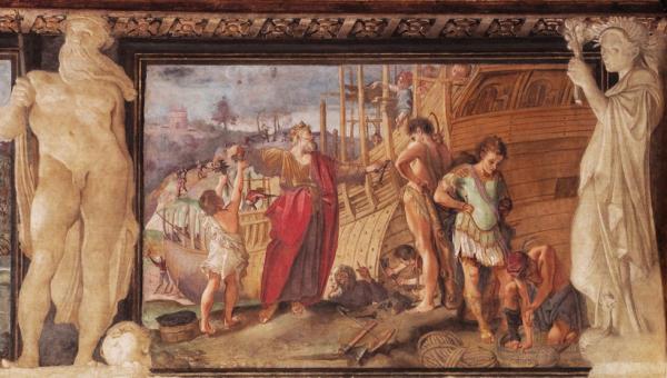 Annibale Carracci La costruzione della nave Argo