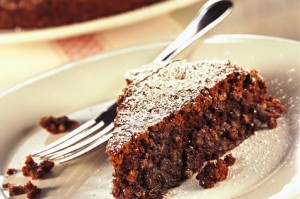 Assaggio torta caprese