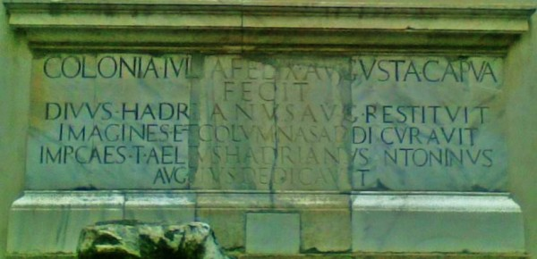 Iscrizione anfiteatro capua