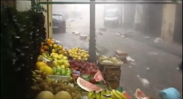 Maltempo: il mercato di Ercolano
