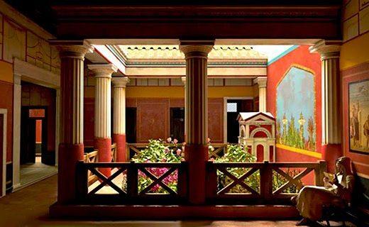Pompei, ricostruzione virtuale Casa del poeta-tragico