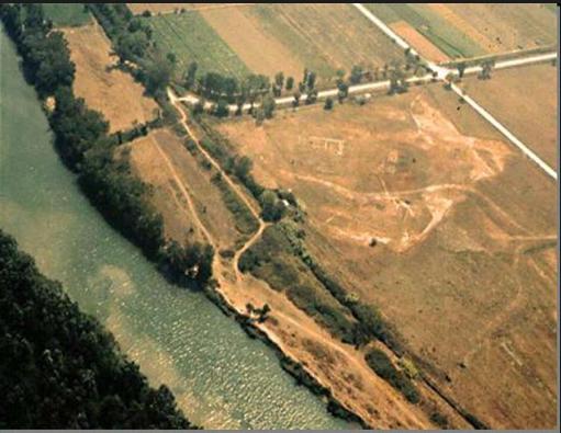 sito archeologico Heraion alla foce del Sele, foto aerea