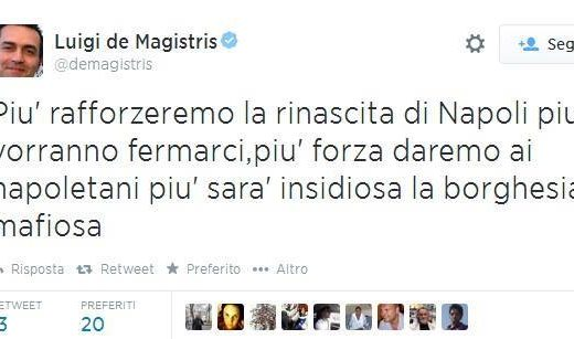 tweet de Magistris