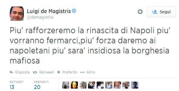 tweet de Magistris