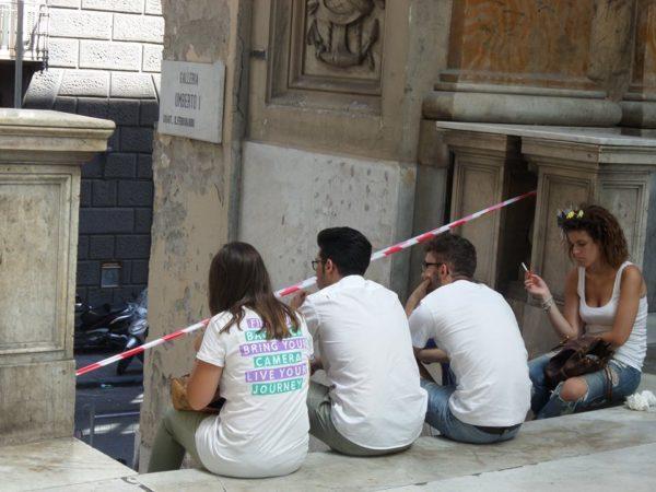 Galleria Umberto chiusa