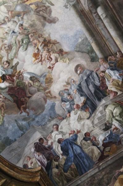 decoro Chiesa santi Severino e Sossio, interno