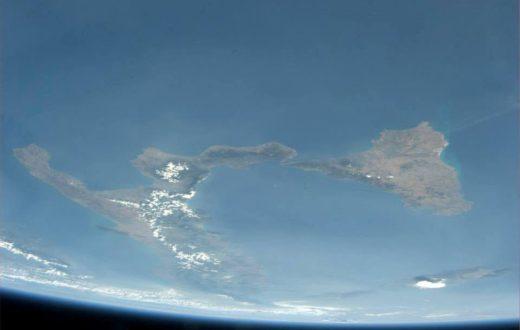 NASA - Il Golfo di Napoli e il Sud in diretta dallo spazio