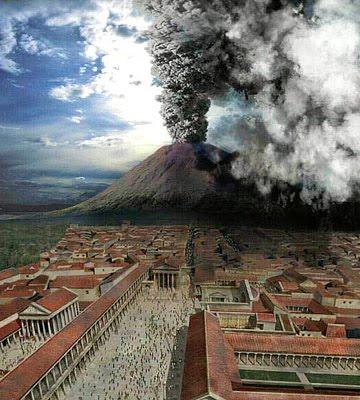 Pompei, eruzione vulcano