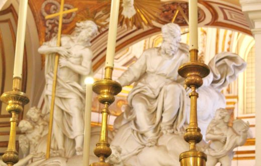 Sculture altare,chiesa pellegrini