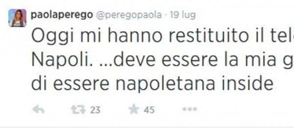 Tweet Paola Perego