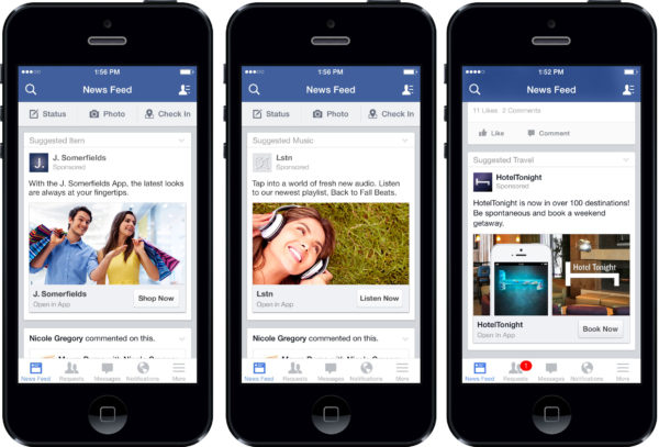 facebook - nuovo pulsante