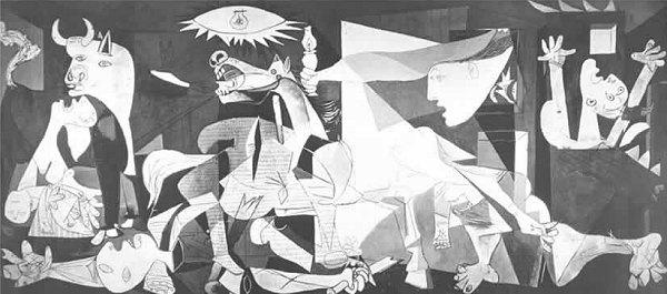 """""""Guernica"""", celebre dipinto di Pablo Picasso"""