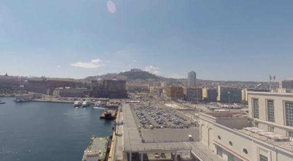 Napoli ripresa con una videocamera GoPro