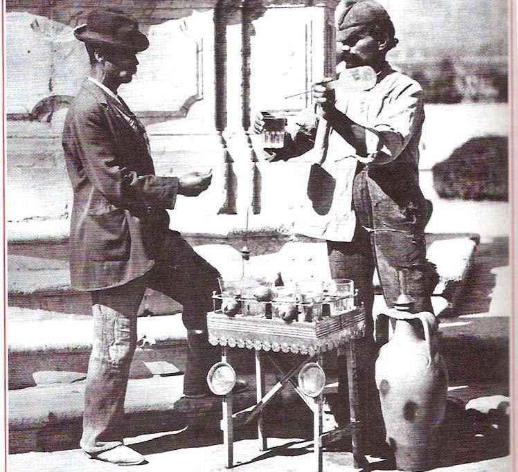 venditore di acqua solfurea