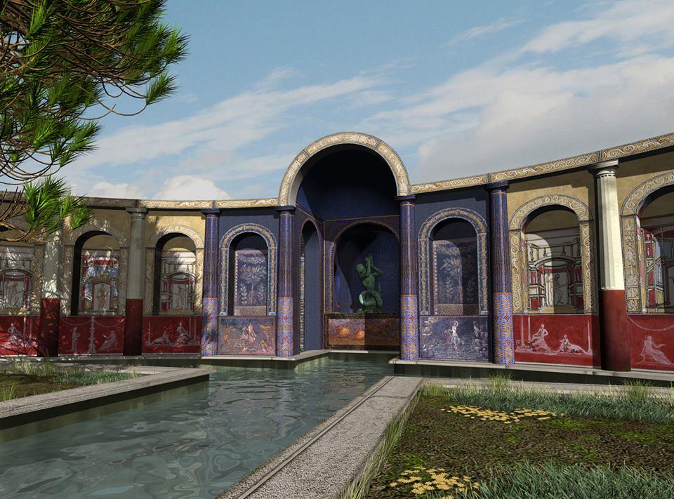 Lusso e storia villa san marco a stabiae for Piani di lusso di una sola storia