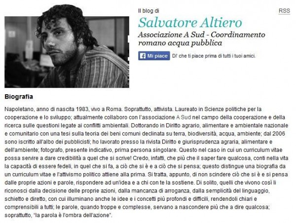 Salvatore Altiero, biografia