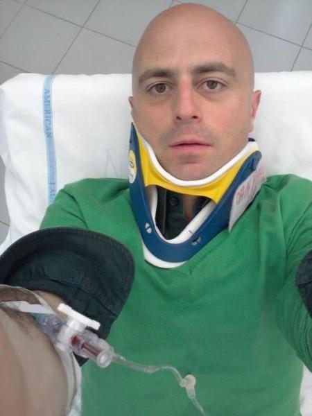 Luca Abete picchiato