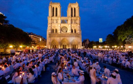 Paris, white dinner