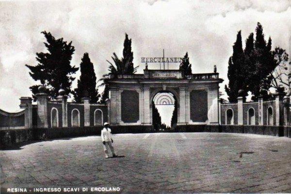 Scavi di Ercolano - foto storica