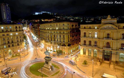 piazza borsa nightview dallalto