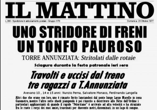 Tragedia 22 Ottobre 1977 a Torre Annunziata