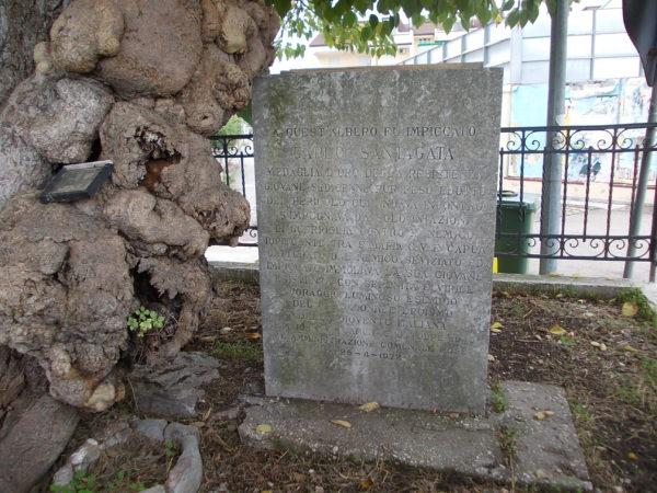 Cippo commemorativo Carlo Santagata, Capua