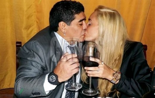 Diego Armando Maradona e Rocio Oliva