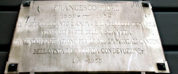 Targa Francesco Fiore, Portici