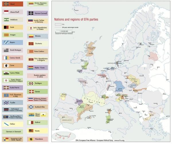 Indipendenza - Mappa dei separatisti