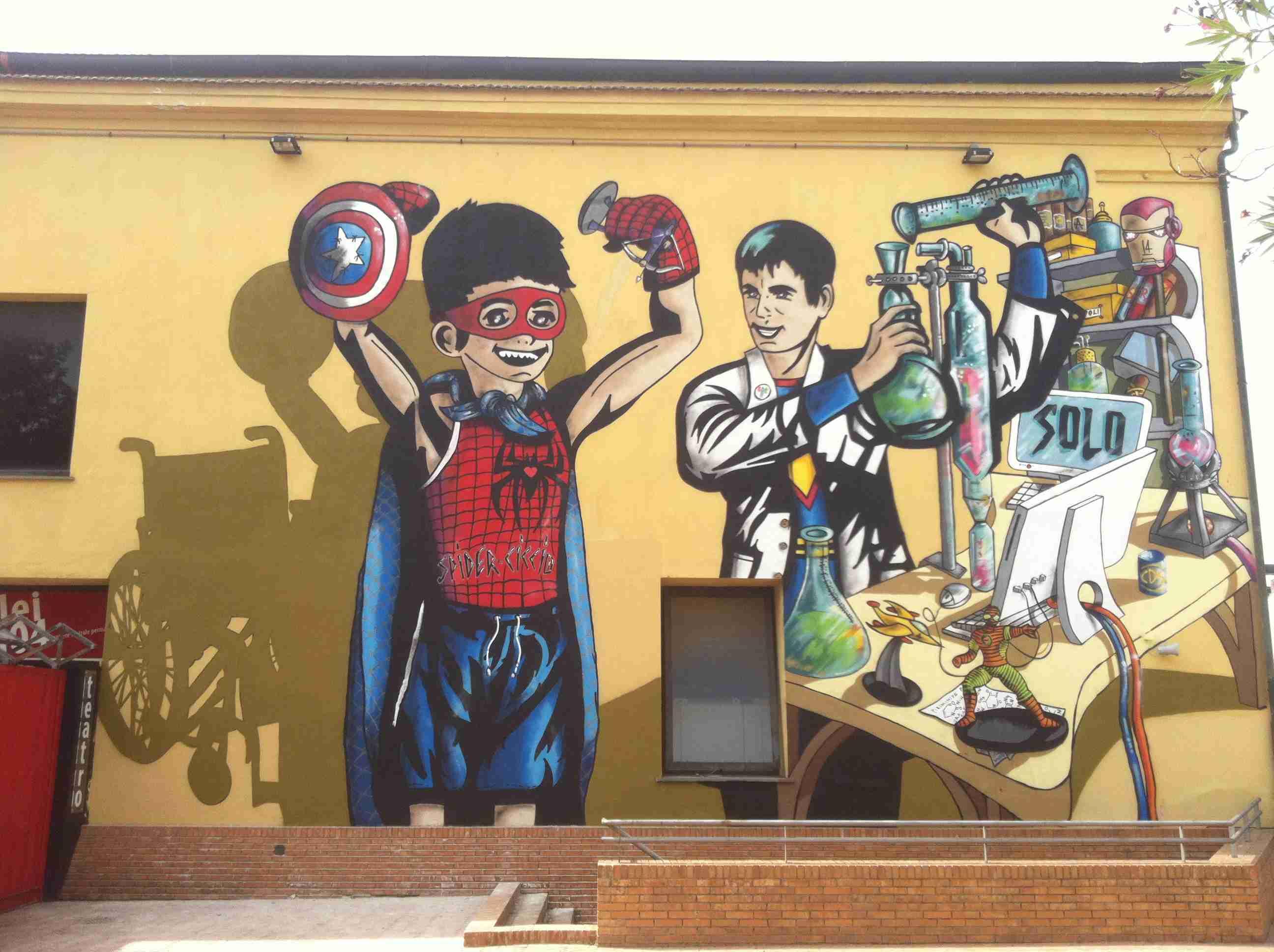 Citt della scienza un murales per ricordare i veri eroi for Murales per cucina