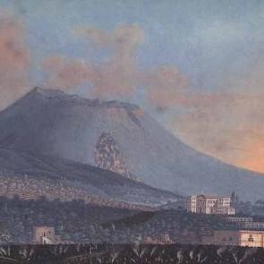 Cima del Vesuvio troncata dopo l'eruzione del 1794