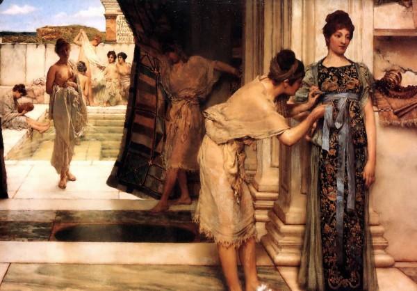 Dipinto di sir Lawrence Alma-Tadema, raffigurante le terme romane