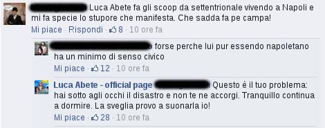 Luca Abete - commenti della gente