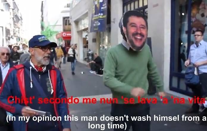Matteo Salvini a spasso per Napoli